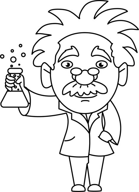 Science Clipart- scientist_holding_beaker - Classroom Clipart
