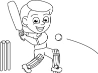 Free Black and White Sports Outline Clipart - Clip Art ...