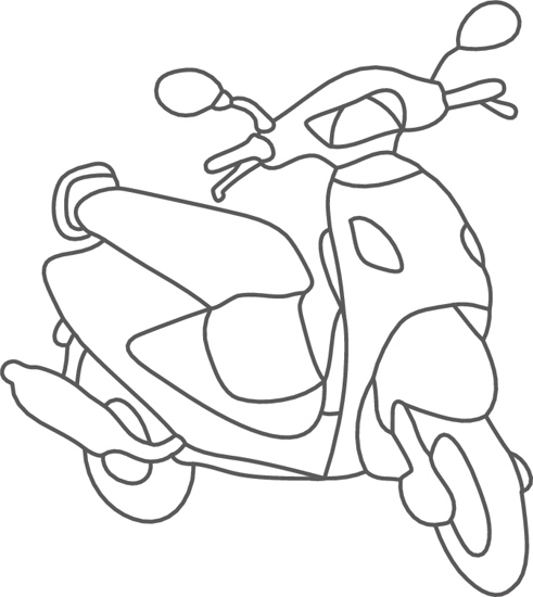Scooter Clipart Black ...