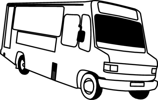 Transportation Black And White Outline Clipart