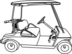 golf cart clip art black and white bing images