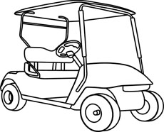 free black and white transportation outline clipart clip