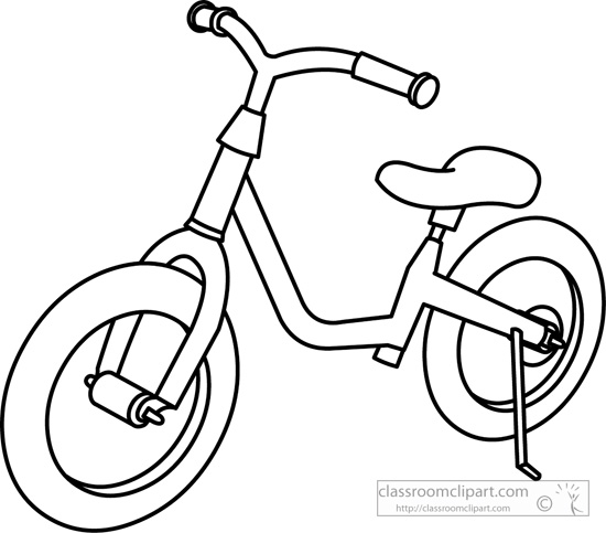Transportation Clipart- childrens_bicycle_outline ...