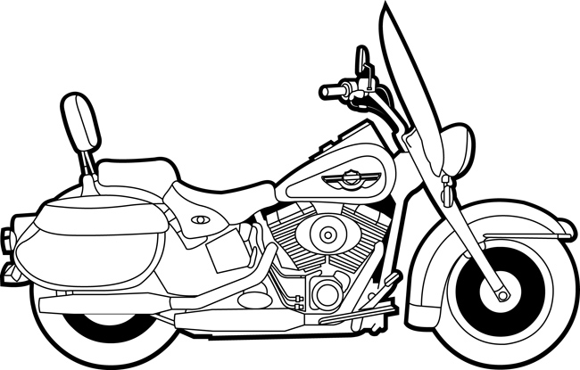 Transportation Clipart- Hardley_davidson_motorcycle