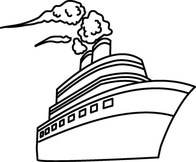 Transportation Clipart- travel_passenger_ship_outline ...