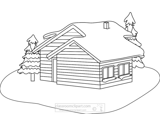 winter-cabin-snow-trees-bw-outline-clipart.jpg