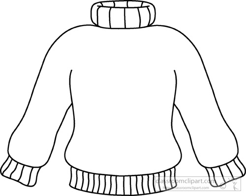 Line Drawing Jumper : Weather clipart winter turtle neck sweater outline