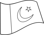 Free Black and White World Flags Outline Clipart - Clip Art Pictures - Graphics ...