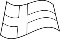 Flag outline. Free black and white