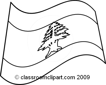 Lebanese Flag Coloring Page For Kids