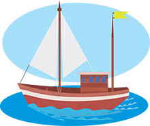 Small Wooden Sail Boat Clipart 14 Size 112 Kb From Boats And Ships