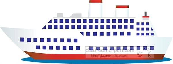 Boats and Ships Clipart - large-passenger-cruise-ship ...