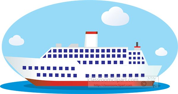River cruise Clipart Vector and Illustration 2609 River