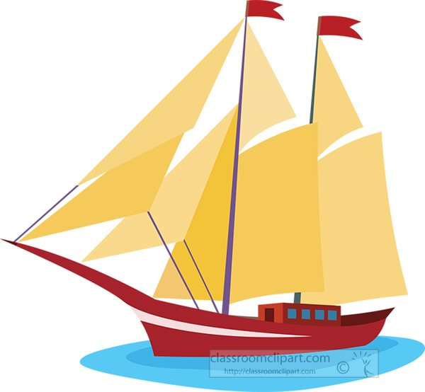 Boats and Ships Clipart- sailing-boat-with-sails-clipart ...