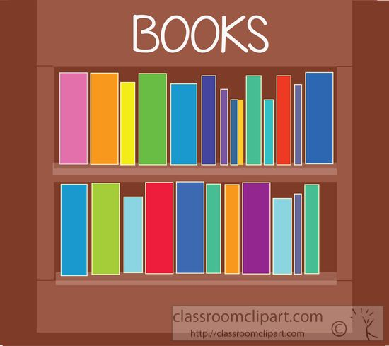 Books On Bookshelf 454 Clipart