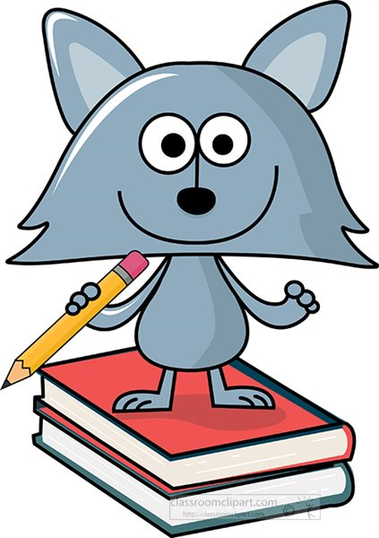 cartoon-style-cat-holding-pencil-while-standing-on-books-clipart.jpg
