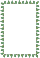 Christmas Tree Border Square Size 72 Kb From Borders