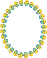 Easter Egg Round Border Size 103 Kb From Borders