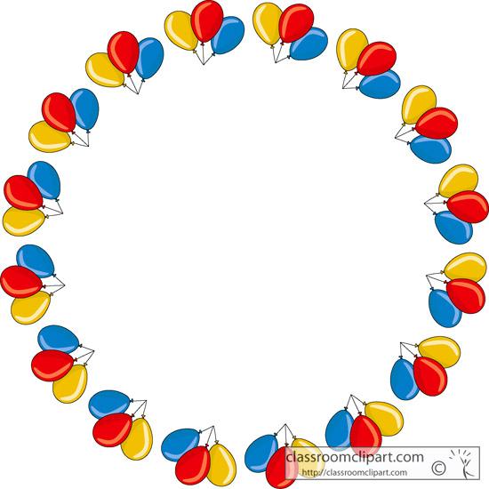 Borders Clipart- balloon_border_round - Classroom Clipart