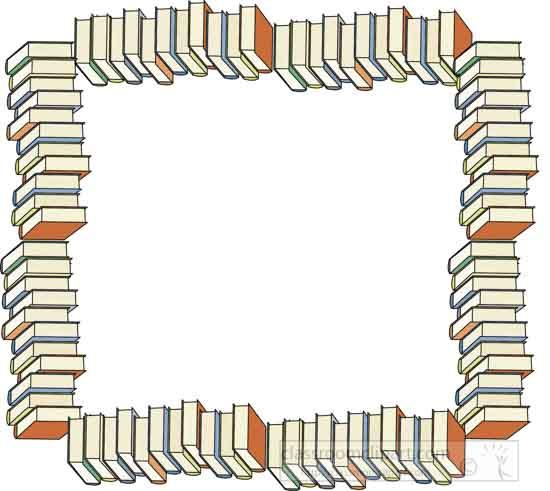 Borders Clipart- Book_border
