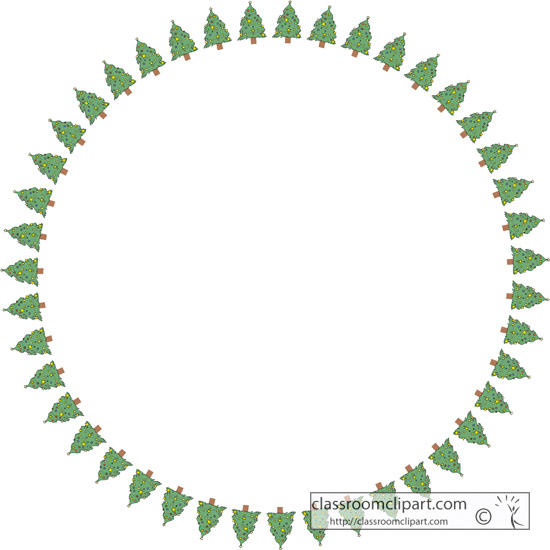 Download christmas tree border roundChristmas Tree Border