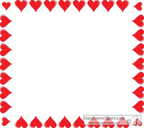 Borders : square_heart_border_116 : Classroom Clipart