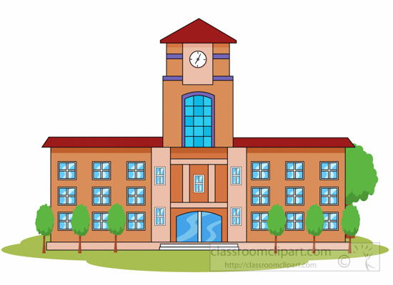 buildings architecture clipart school or college building big rh classroomclipart com clipart images of school buildings clipart images of school buildings