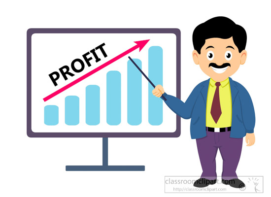 Man-showing-profit-business-clipart