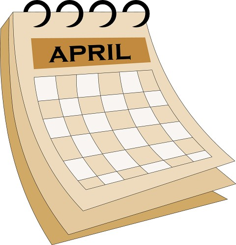 April Calendar Clipart : April calendar clip art