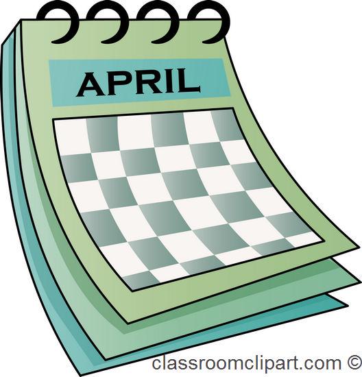April Calendar Graphics : Calendar april classroom clipart