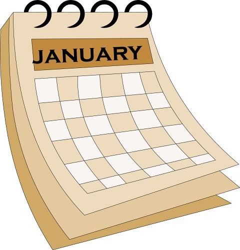 January Calendar Clipart : Calendar january classroom clipart