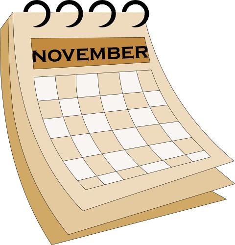 Calendar : 07-november1 : Classroom Clipart