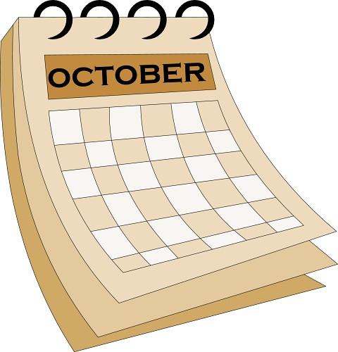 October Calendar Clipart : Calendar october classroom clipart