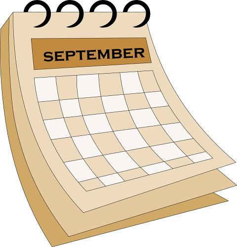 September Calendar Clipart : Calendar september classroom clipart