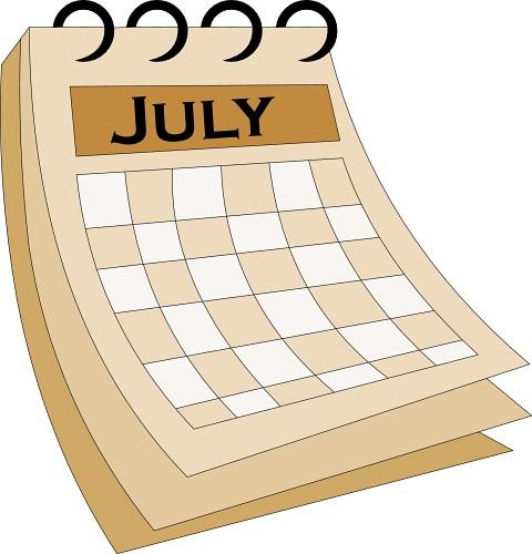 Image result for july clip art image calendar