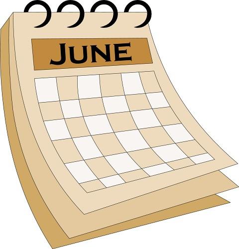 Clip Art Calendar June : Calendar  june classroom clipart