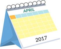 April calendar. Free clipart clip art