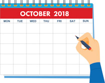 hand writing october calendar 2018 clipart size 109 kb