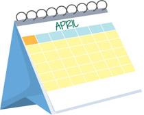 free calendar clipart clip art pictures graphics illustrations rh classroomclipart com april 2017 calendar clipart April Grass