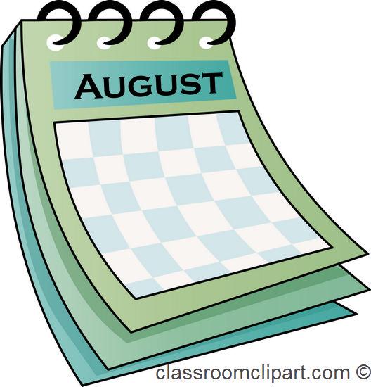 Calendar Clip Art August : Free august calendar clipart
