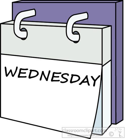 Weekly Calendar Cartoon : Calendar clipart day week wednesday a