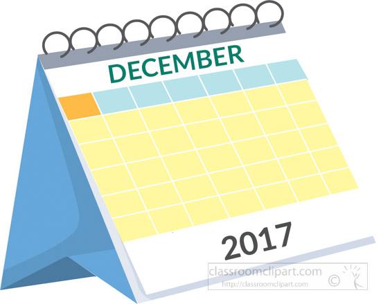 December Calendar Clipart : Calendar desk december white clipart