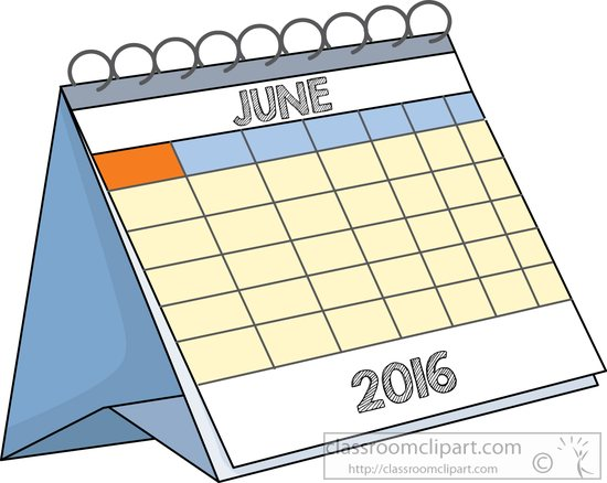 June Calendar Heading Clipart : Calendar clipart desk june classroom