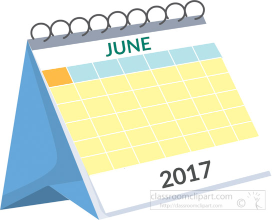 Calendar Clipart- desk-calendar-june-2017-white-clipart-2 ...