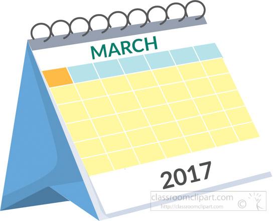 Calendar : desk-calendar-march-2017-white-clipart-2 ...