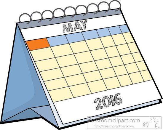 Monthly Calendar Clipart : Calendar desk may classroom clipart