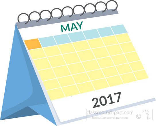 Calendar Clip Art May : Calendar desk may white clipart