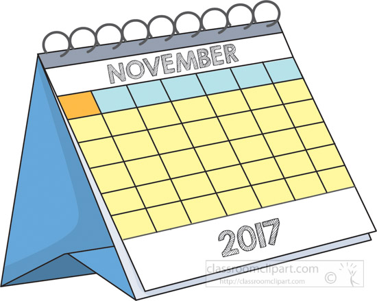 Calendar Clipart- desk-calendar-november-2017-clipart-2 ...