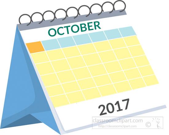 October Calendar 2017 Clipart – September printable …