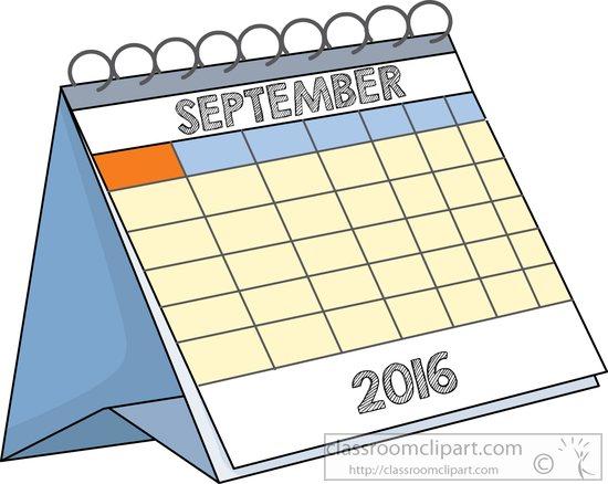 calendar clipart deskcalendarseptember2016 classroom